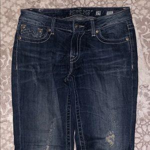 Miss Me Straight Leg Distressed Jeans